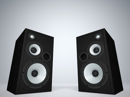 double volume: Two cool audio speakers