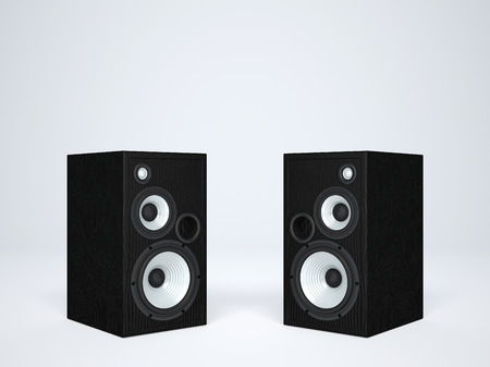 two party system: Two cool audio speakers