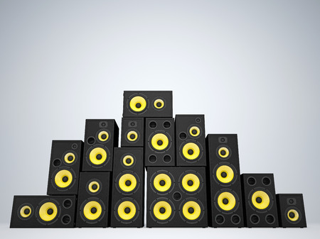 surround system: A large group of audio speakers