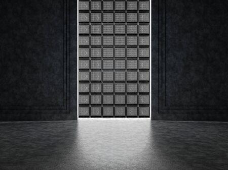 black wall: Guitar amp wall Stock Photo