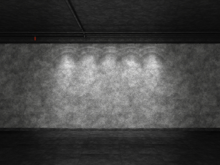 Background is of a cement wall. 3D Render