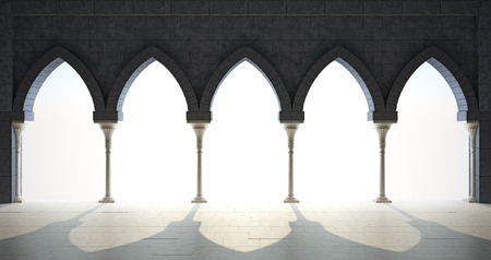 gothic style: Colonnade in the Gothic style
