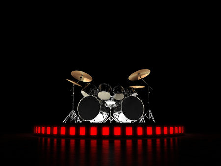 drum and bass: Brutal drum kit stands on the podium. Hell yeah !!!
