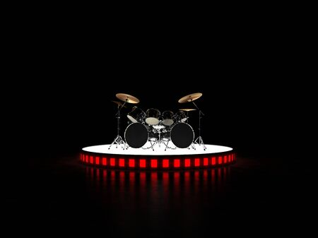 brutal: Brutal drum kit stands on the podium. Hell yeah !!!