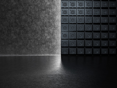 overdrive: Backgrounds of guitar amps on the background of a concrete wall