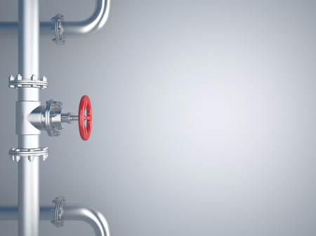 stopcock: Industrial Pipe Valve on Background Stock Photo