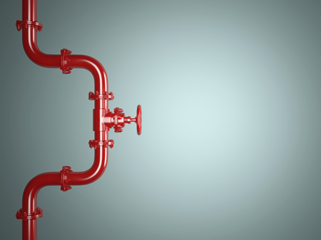 stopcock: Industrial Red Pipe Valve