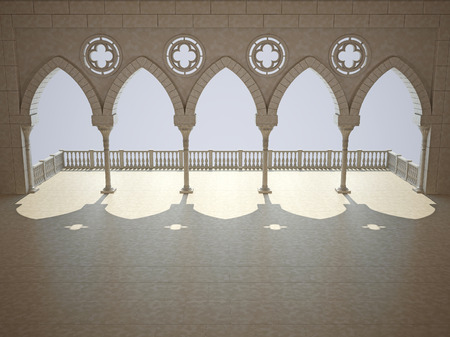 grandiose: Colonnade in the Gothic style