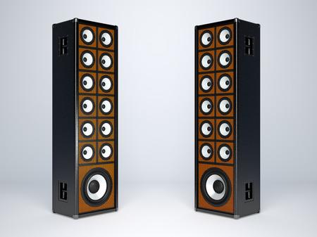 PARLANTE: Dos grandes altavoces de audio