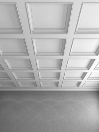 the ceiling in a classic style Stock Photo