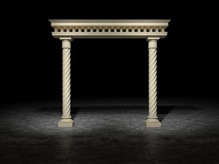grandiose: Dark space in which there is a classic portal