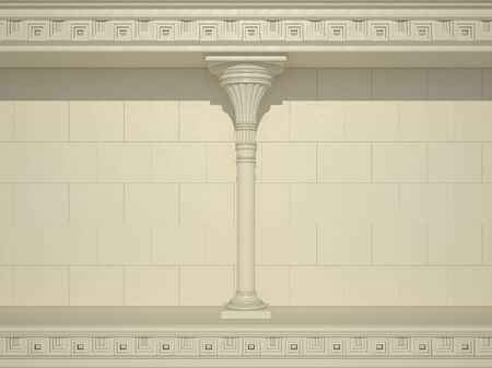 greece granite: A background of a wall with beautiful columns Stock Photo