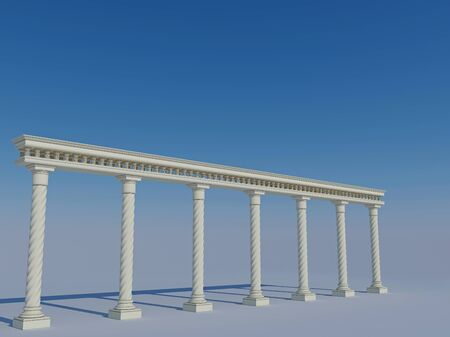 colonnade: Colonnade in the classic style Stock Photo
