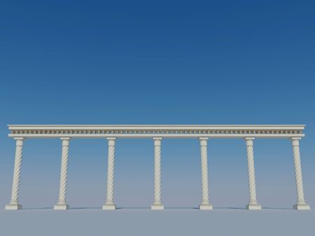 classic style: Colonnade in the classic style Stock Photo