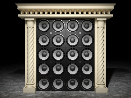 grandiose: Abstract classic arch with speakers
