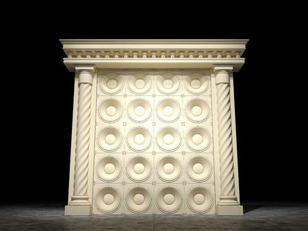 Abstract classic arch with speakers
