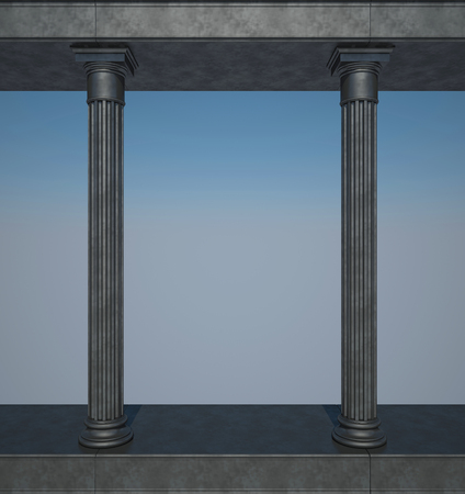 colonnade: Black colonnade in the classic style