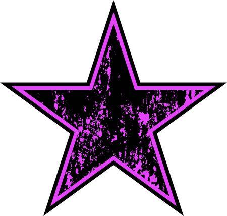 A Vector grunge purple star.