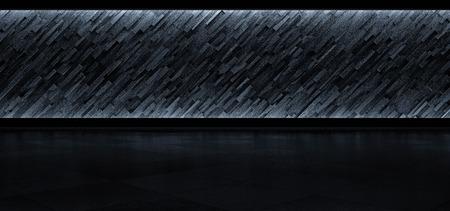 futuristic interior: Abstract futuristic background is Illuminated. 3D Render Stock Photo