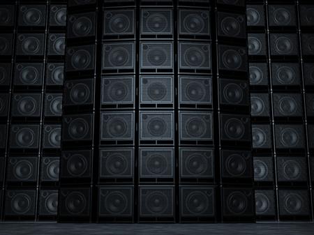 Amp speaker Wall