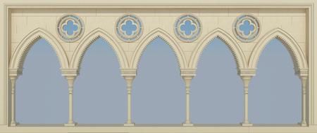 Colonnade arabic style