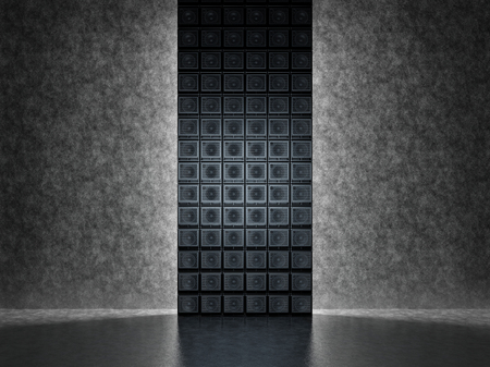 Backgrounds of guitar amps on the background of a concrete wall