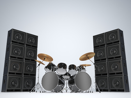 Drum kits and guitar amps