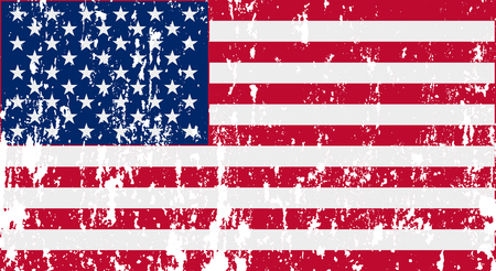Unusual USA flag. Vector image
