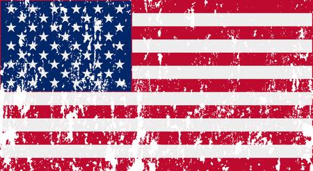 Unusual USA flag. Vector image Banco de Imagens - 114687997