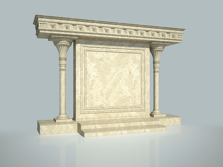 Abstract architectural structure in classical style