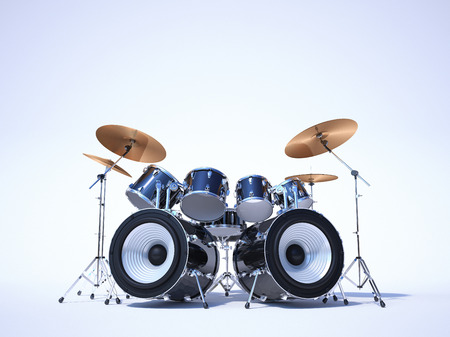 A cool drum kit on a white background