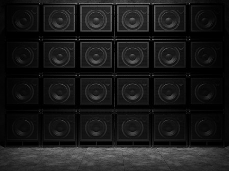 Wall of guitar amps Archivio Fotografico - 114476523