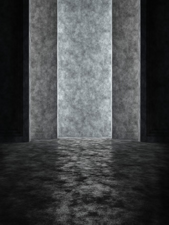 Abstract space with a vertical niche in minimalist style 版權商用圖片