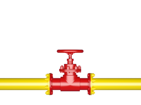 Pipeline Valve isolated on White