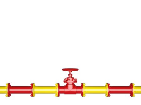 Pipeline Valve isolated on White