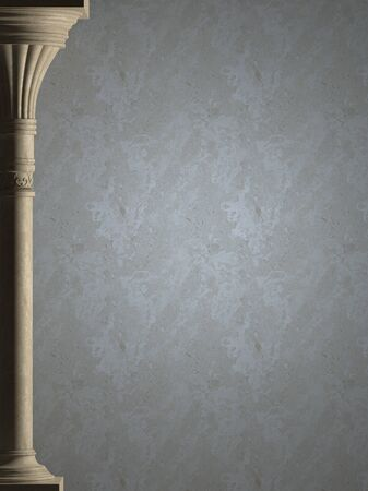 Background is antique column. High-resolution
