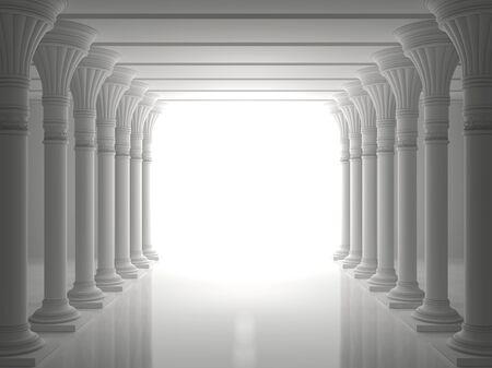 Colonnade de colonnes antiques Banque d'images