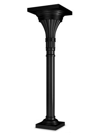 Black column isolated on white