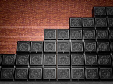 Stack of guitar amplifiers Фото со стока