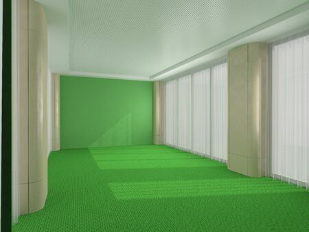 Green office in modern style Imagens