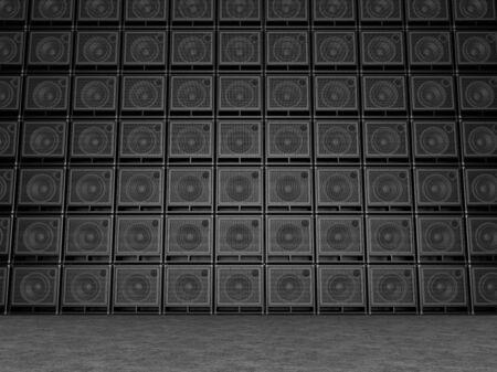 Big wall of guitar amps Stockfoto