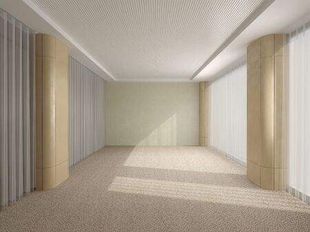 Beige office in modern style 版權商用圖片