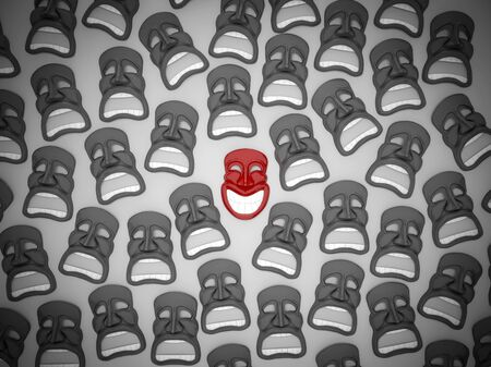 Theatrical mask stands out from the crowd