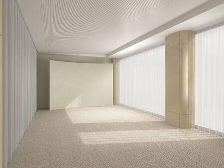 Beige room in modern style