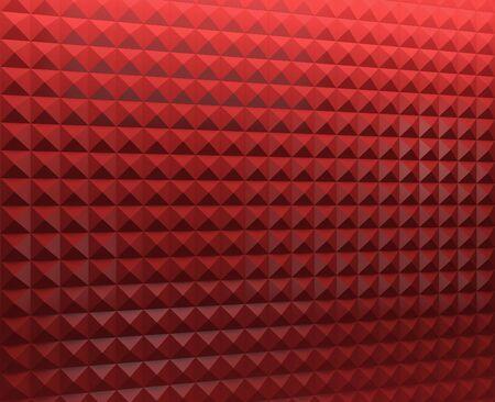 Stylish geometric volume of red background Stockfoto