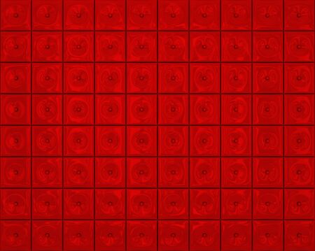Wall of red tiles