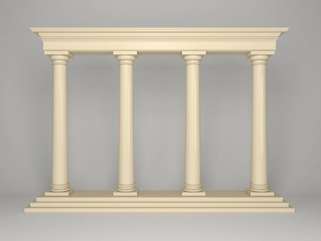 Element of classical architecture portal with columns Stockfoto