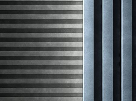 Backgrounds of the two concrete walls with vertical and horizontal stripes Stock fotó