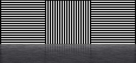 Glowing vertical and horizontal stripes. Abstract glowing background consisting of stripes. Glowing wall. 3D Render