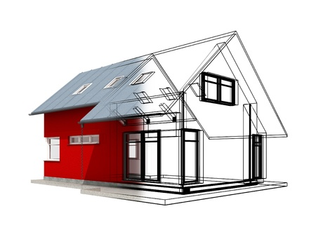 반투명 3D 검정색 프로젝트 linesCategory 건축 민간 건설 HouseConceptual 카테고리 비즈니스 산업 건설 집의 렌더링